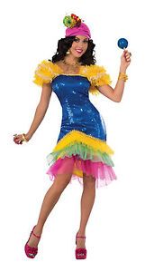 Cha-Cha Adult Rio Carnival Fancy Dress Costume  sc 1 st  eBay & Rio Carnival Costumes | eBay