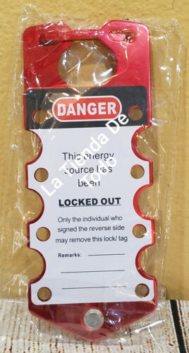 DANGER DO NOT OPERATE ELECTRICAL LOCKED OUT ALUMINUM TAG LOCK PACK OF 2 READ