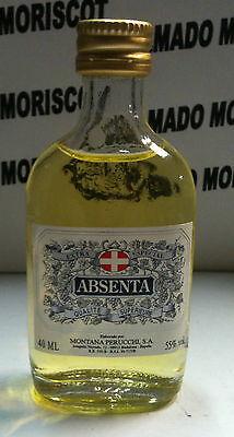 ABSENTA 40ml 55% MONTANA PERUCCHI cristal miniatura mignonette minibottle ABSINT