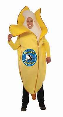 Banana Costume Women (Adult Appealing Banana Halloween Costume Unisex Yellow Food Fruit Men)