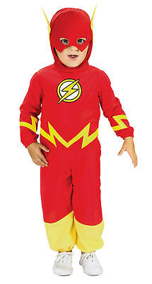 Flash Baby Child Jumpsuit And Headpiece Costume Toddler Fancy Dress - Flash Kostüm Baby