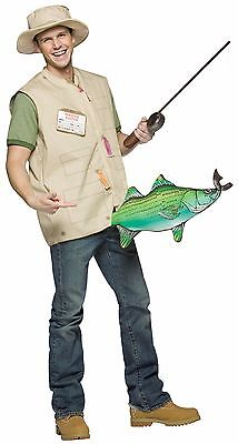 Adult Costume Catch of the Day Funny Fisherman Halloween Theater Fancy Dress Up