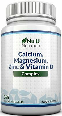 Zinc Calcium Magnesium & Vitamin D Complex Supplement 365 Vegetarian Tablets