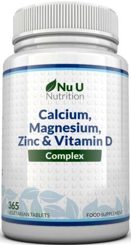 Zinc Calcium Magnesium & Vitamin D Complex Supplement 365 Vegetarian Tablets