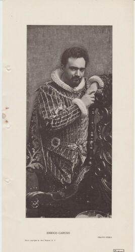 1906 Enrico Caruso 6x12 Vintage Printed Photo of the Grand Opera Star