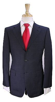 * BURBERRY * Black Label Japan Solid Charcoal Gray Slim Fit Wool 3-Btn Suit 38R