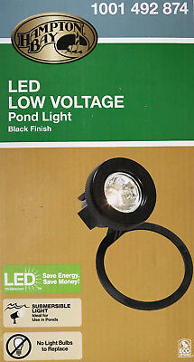 Low Voltage Pond - Hampton Bay Submersible Low Voltage LED Pond Light - Black - NEW