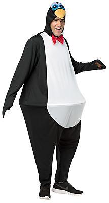 Pinguin Hoopster Erwachsene Kostüm Schwarz & Weiß Body Halloween Rasta - Rasta Imposta Pinguin Kostüm