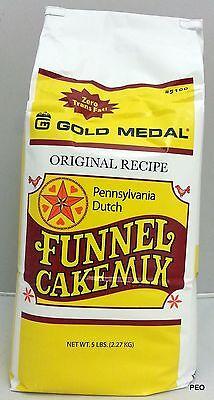 Gold Medal Funnel Cake Mix 5 lb Pennsylvania Dutch Concession Bulk Cakes (Gold Medal Funnel Cake Mix)