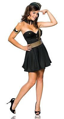 Military Officer Army Bombshell Women Costume Dress Uniform 1950's Pinup - Army Women Costume