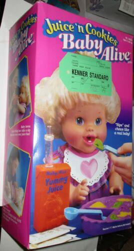 1995 Juice n Cookies Baby Alive MIB Unused Kenner Standard Tag