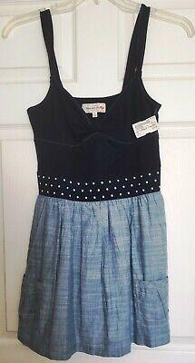 Abercrombie & Fitch Light & Dark Blue Dress Size Large BRAND NEW w/ TAGS