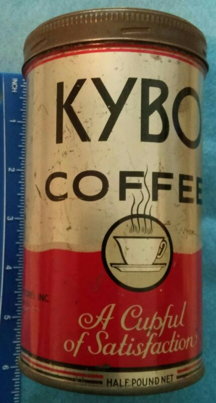 VINTAGE KYBO COFFEE TIN- LOOK !