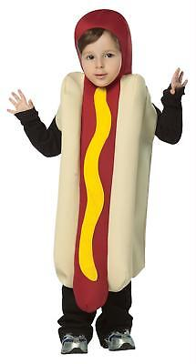 CHILD ADORABLE HOT DOG WITH MUSTARD FOOD HALLOWEEN COSTUME SIZE 4-6 GC93446 - Baby Hot Dog Halloween Costumes