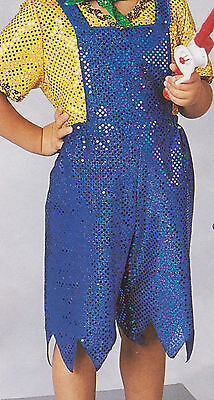Sequin Country Farmer Huckleberry Finn Overalls W/ Shirt Costume Size 14 Child