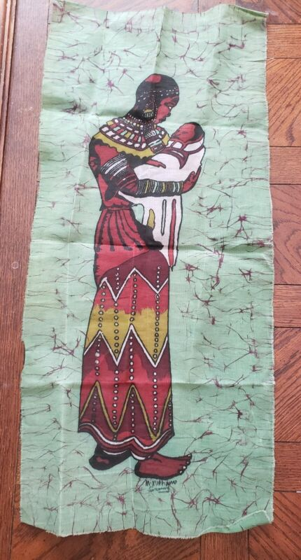 VINTAGE FABRIC ARTIST SIGNED UNIQUE NATIVE AMERICAN COLLECTABLE CLOTH RARE