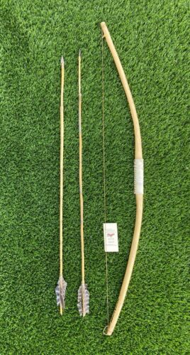 """authentic apache craft wooden bow 46"""" arrow 40"""" 274"""