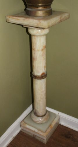 "Antique solid MARBLE  PEDESTAL 38"" tall Rare Estate piece very old BEAUTIFUL"