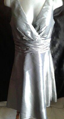 J S BOUTIQUE SILVER GREY EVENING DRESS 12
