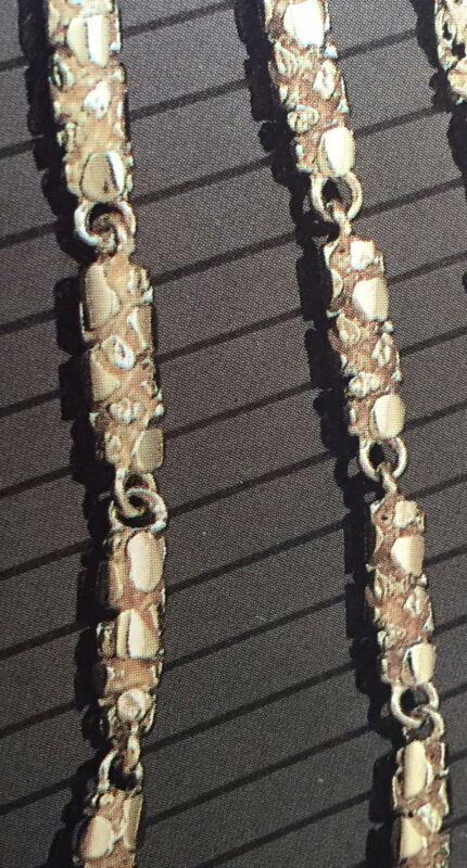 """10kt Solid Gold Handmade Nugget Link Chain/necklace 30"""" 70 Grams 4.5 Mm"""