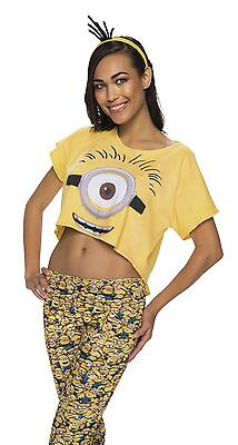 Female Minion Crop Top Despicable Me Size M/L for Adults New by Rubies 840026 - Costume For Minions
