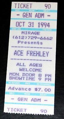 Kiss Band Solo ACE FREHLEY Kick Ass Tour Halloween 1994 Concert Minn Ticket Stub](Halloween Concert Band)