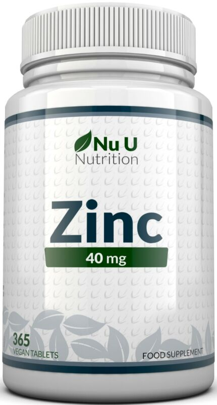 ZINC Tablets 40mg 365 Tablets (12 Month