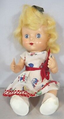 Vintage 1950s 20cm Pedigree Hard Plastic Doll Promotional Johnson's Wax
