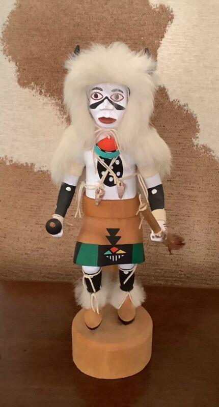 Hopi Kachina White Buffalo by the late Earl Yowytewa 1991