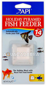 API 14 DAY PYRAMID FISH TANK FEEDER FOOD HOLIDAY 2 WEEK VACATION FOOD BLOCK