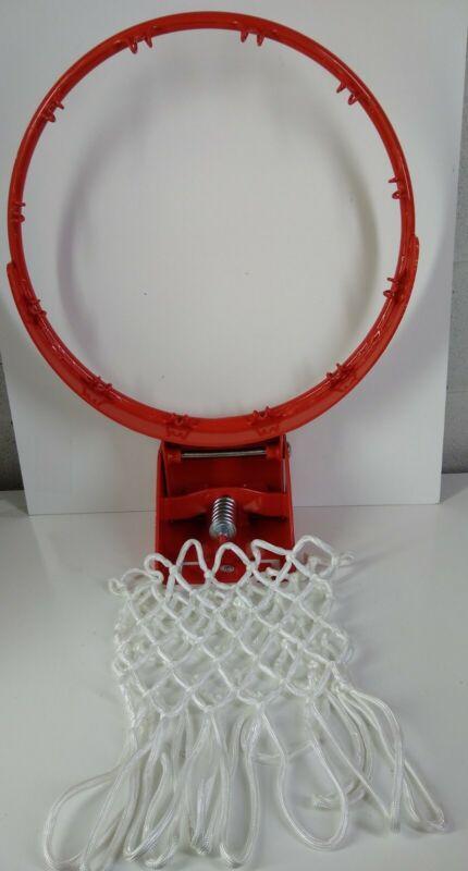 "Heavy Duty 18"" Inch Basketball Rim Orange Single Spring With Net Please Read"