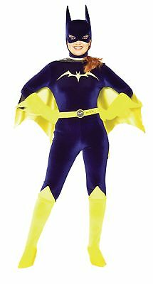 Gotham Mädchen Batgirl Erwachsene Damen Kostüm Body Velvet Dc Comics Halloween