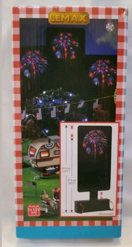 BRAND NEW Lemax Red White Blue Fireworks 2018 Summer Americana Series