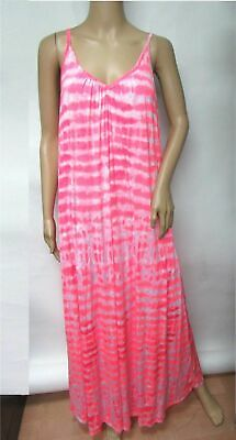 The Vanity Room Sleeveless Cover Up Beach Lined Tie Dye Maxi Dress Plus Size 2X](Tie Dye Room)
