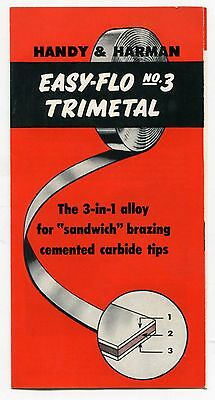 Welding Re  Vintage  Handy   Harman  Sales Brochure   Trimetal 3 In 1 Alloy