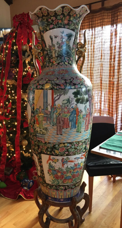 Gorgeous Very Large Chinese  Vase 1950Ties..Five Foot