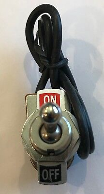 Spst 6 Amp Bat Handle Toggle Switch With Onoff Plate And Leads