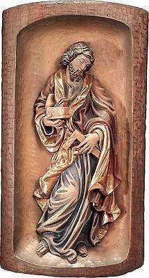<br />San Giuseppe Rilievo in Legno.St.Joseph Relief Cm.80x40 31,49x15,,74demi model 128080 NUOVO In legno scolpita a mano --WOODEN WORK