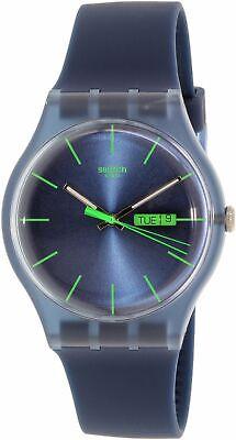 Swatch Men's Originals SUON700 Blue Silicone Quartz Fashion Watch