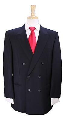 H  Huntsman   Son   Savile Row For Kindwear Black Wool Mohair 2B Db Suit 40R
