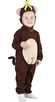 Monkey Banana Kostüm (Childrens Banana Head Monkey Costume Kid Book Week Fancy Dress Party Wear Outfit)