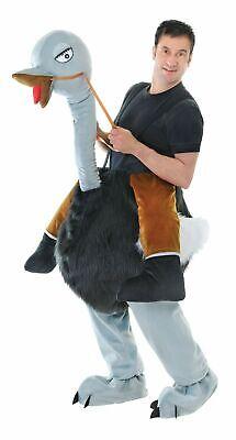 Uomo Passo in Emu Struzzo Adulto Unisex Animale Wild West Costume Outfit