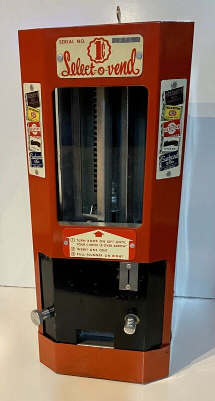 Select-O-Vend, Vintage Penny Candy and Gum Machine circa 1940