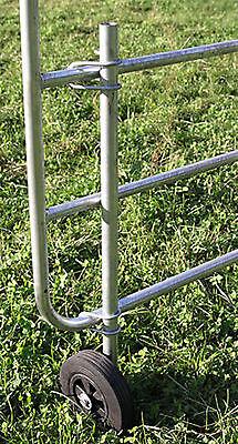 Stützrad für Weidetor feuerverzinkt Vollgummirad