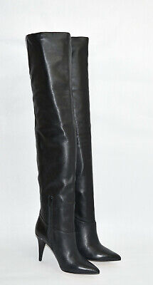New Michael Kors Rosalyn Over The Knee Boot Black Leather Size 5.5 MSRP $325 OTK