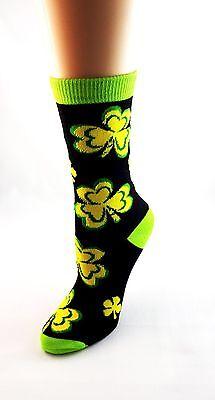 Irish Theme Socks Shamrocks Green Yellow Ladies Size 9 to 11](Irish Theme)