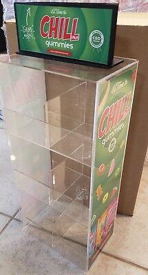 19 Clear Acrylic Counter Top Display Shelf Rack Product Display