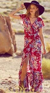 a8153dcef2 Auguste Beach House Frill Wrap Maxi Dress - Size 12-14 | Dresses ...
