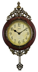 Victorian Style Ornate Pendulum Wall Clock