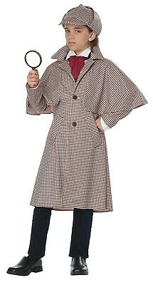 Famous Detective Sherlock Holmes Watson Unisex Child Costume - Detective Costume Kid